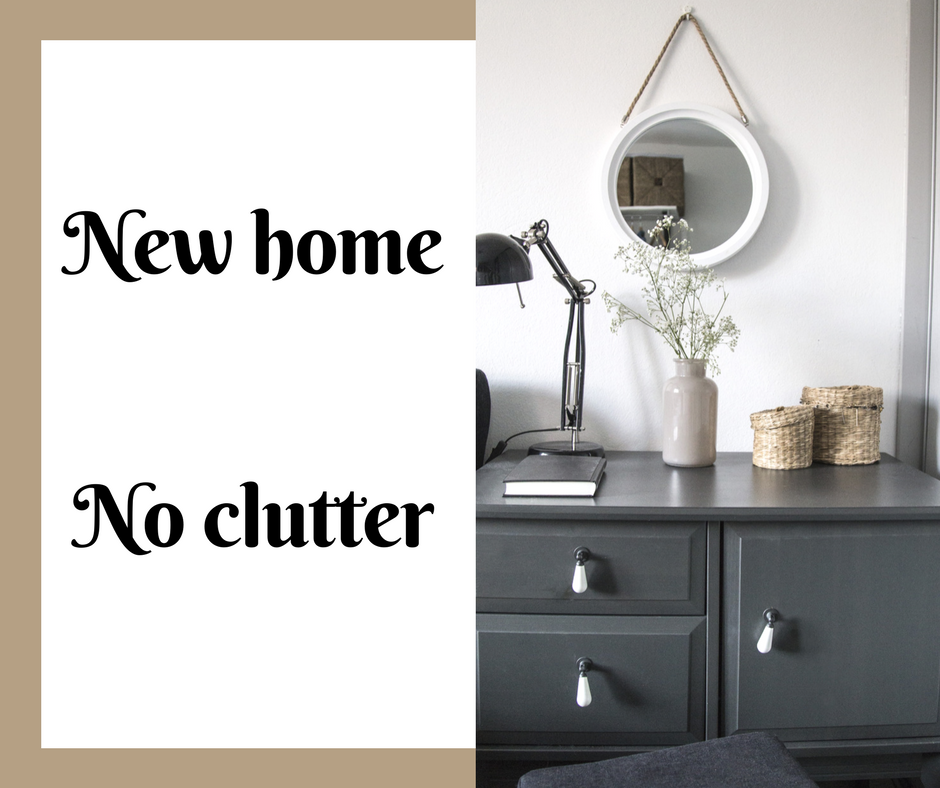 New home no clutter declutter consultation