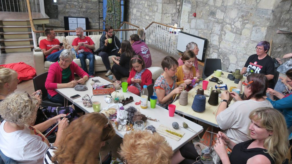 knit the walls at God's house tower